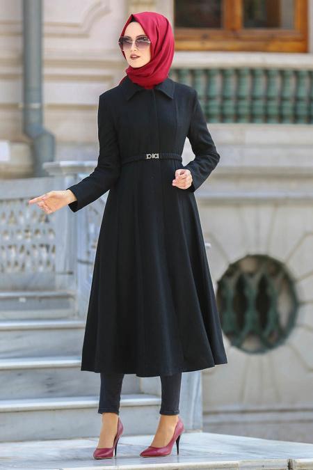 Tuay - Black Hijab Coat 70080S