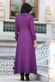 Tuay - Purple Hijab Coat 7132MOR - Thumbnail