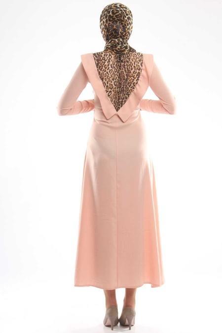 Aybqe - Leopar Detaylı Elbise 7139PD